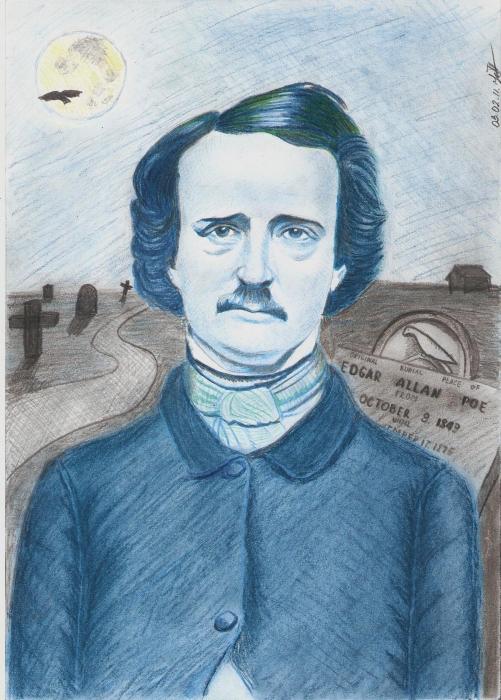 Edgar Allan Poe by Julie_Winchester